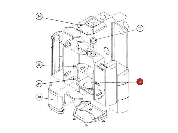 Verschlussplatte zu Rika Amato | B12322 | Splitzeichnung Nr. 18
