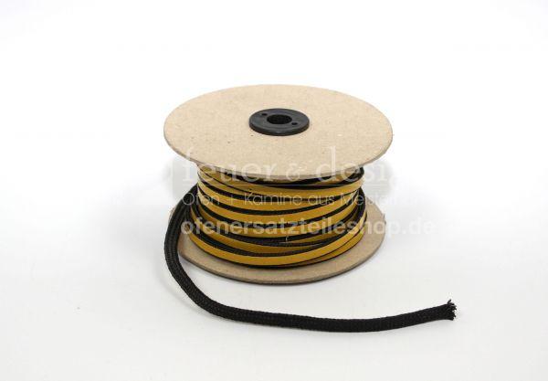 Kaminofen Türdichtung | Flachdichtung selbstklebend 8 x 4 mm Meterware ( Länge nach Wahl )