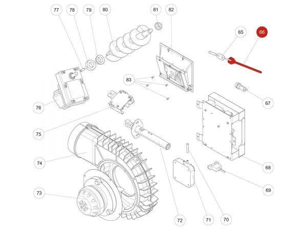 Rika Kapo Flammsensorrohr | B15248 | Splitzeichnung Nr. 66