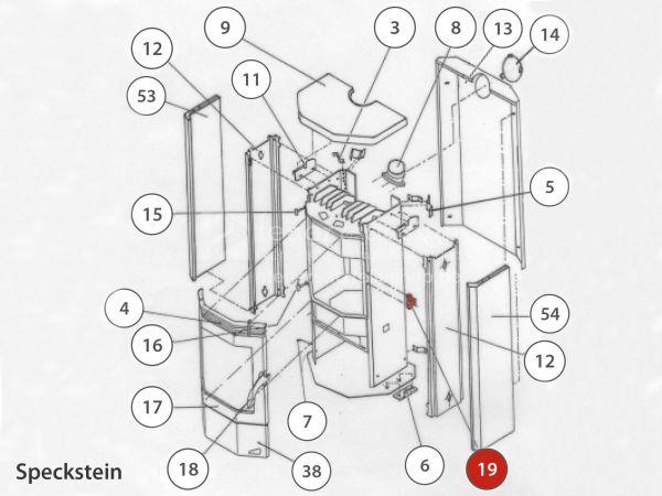 Rika Taurus Türverschluss komplett | B12375 | Splitzeichnung Nr. 19