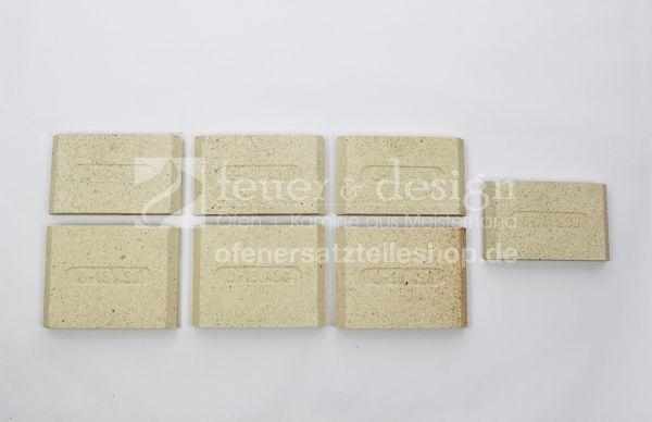 Ortrand Schamottesatz | Satz Schamottsteine zu E2020.5+E2020.1
