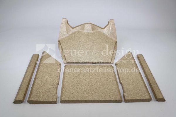Contura Feuerraumauskleidung | Vermiculitesatz | für die Contura Modelle 556, 586 und 556 Style