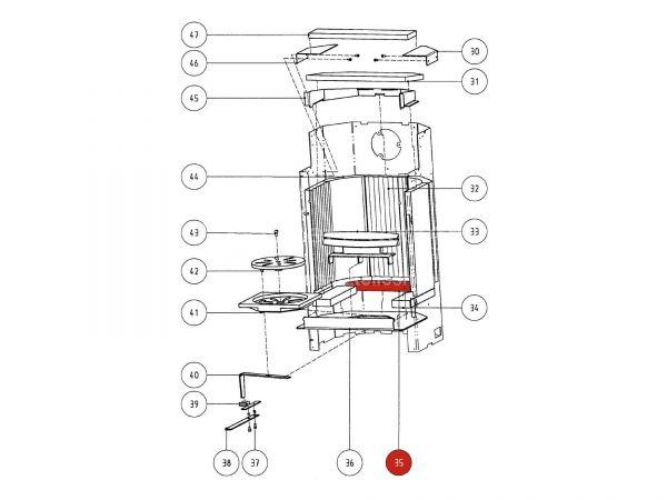 Rika Atrio Bodenschamott 1 | Z29411 | Splitzeichnung Nr. 35