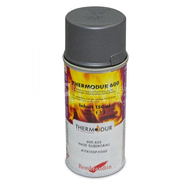Hase Ofenspray | Ofenlack silbergrau 150 ml | Thermodur 600 STAN