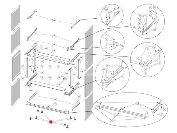 Rika Ambia Höhenverstellschraube schwarz | N112490 | Splitzeichnung Nr. 132