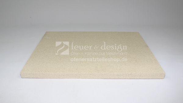 Umlenk Feuerraumplatte | 49,5 x 61 x 2,5 cm | Vermiculiteplatte HD 1200