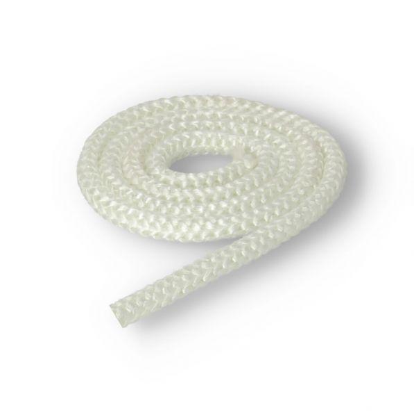 Glasstrickschnur I Türdichtung I Dichtschnur 10mm weiß | Meterware