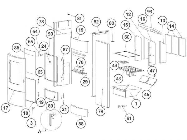 Rika Induo Elektrohaftmagnet | Z34790 | Splitzeichnung Nr. 9