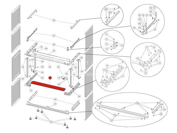 Rika Ambia Glasauflage | Z38178 | Splitzeichnung Nr. 121