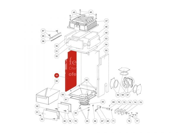 Innenauskleidung links zu Rika Domo | Z36601 | Splitzeichnung Nr. 56