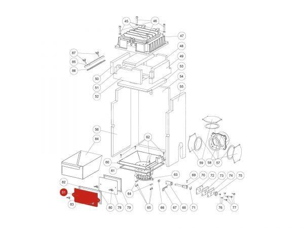 Putzdeckel zu Rika Domo | Z36000 | Splitzeichnung Nr. 81