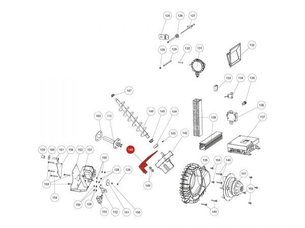 Motorhalteplatte zu Rika Domo | L00797 | Splitzeichnung Nr. 148