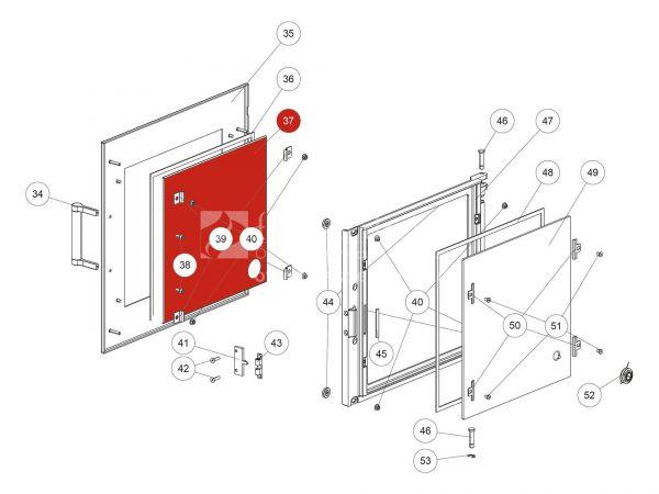 Rika Back Dekorglas | Z37180 | Splitzeichnung Nr. 37