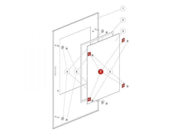 Rika Back Glashalter | L03426 | Splitzeichnung Nr. 6 und Nr. 39