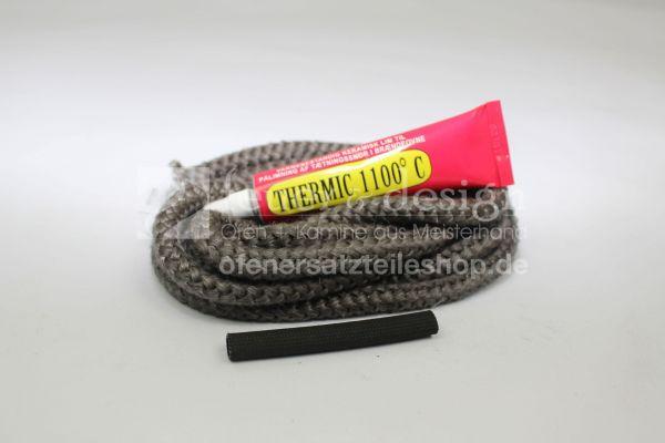 Skantherm Türdichtung ( Nr. 3 ) |  Textilglasdichtung  | 2 m Textilglaskordel mit Kleber und Hülse