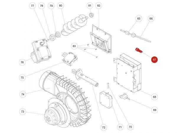 Rika Kapo Sicherung 2,5 A | N111604 | Splitzeichnung Nr. 67