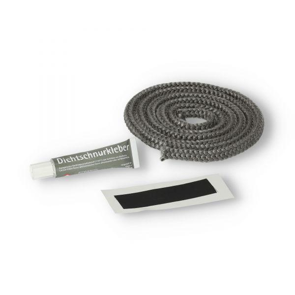 Ofendichtung | Dichtschnur 6 mm ( Länge nach Wahl ) mit Kleber und Endband