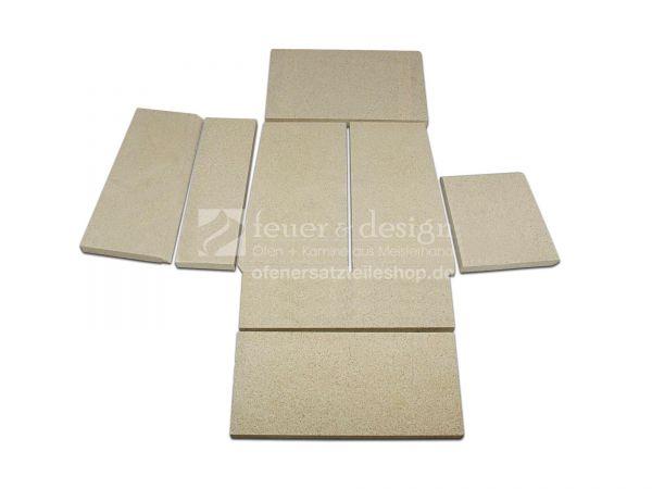 Skantherm Shaker Vermiculitesatz | alle Varianten | 8 teilig | Brennkammerauskleidung