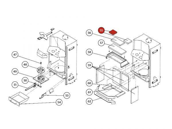 Umlenkplatte zu Rika Amato | Z21021 | Splitzeichnung Nr. 55