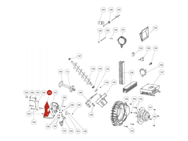 Rika Domo Hitzeschutz Motor | L03484 | Splitzeichnung Nr. 162