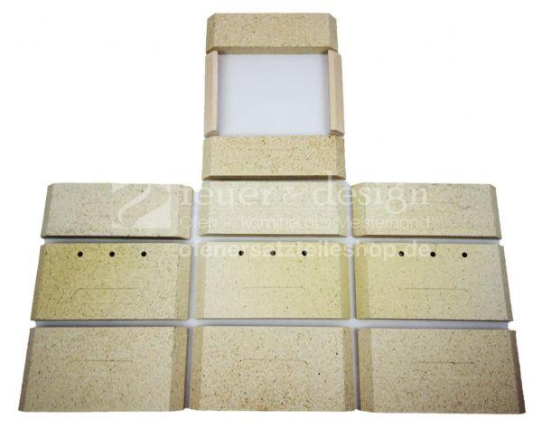 Ortrand Schamottesteine Komplettsatz zu E4020.6