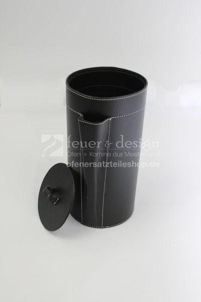 Termatech Aufbewahrungsbox für Kaminanzünder | Echtleder | schwarz