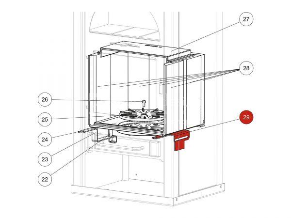 Primärluftschieber metallic zu Rika Alpha II | Z30062 | Splitzeichnung Nr. 29