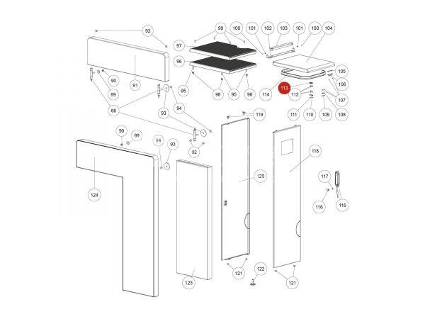 Magnetschalter Oberteil zu Rika Domo | N111732 | Splitzeichnung Nr. 113
