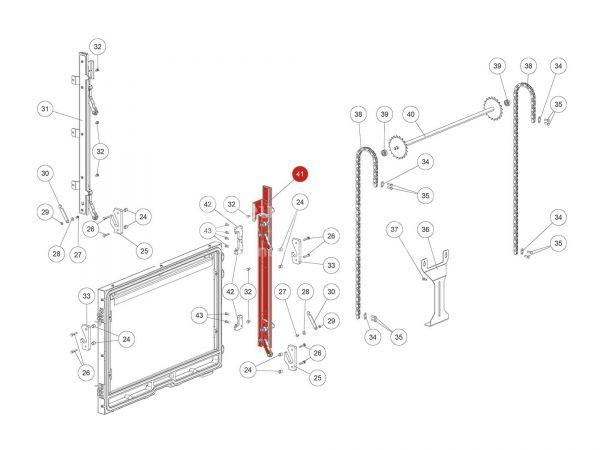Rika Ambia Teleskopschiene links | B18562 | Splitzeichnung Nr. 41