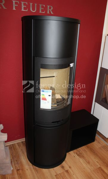 Contura Kaminofen 690:2 Style | Gusstür | Glasab.| WSM 50 KG | HF freist. | HFT | Lack schwarz