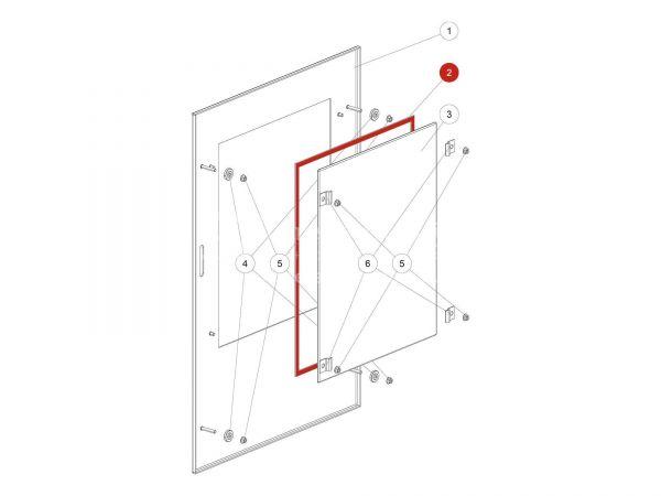 Rika Back Flachdichtung weiß 8x2   N100475   Splitzeichnung Nr. 2 & 36   Meterware
