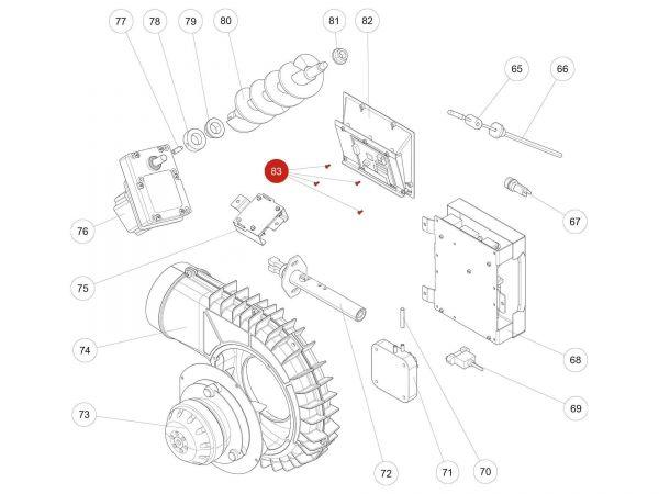Rika Kapo STS Schraube 2,5x7   N112032   Splitzeichnung Nr. 83