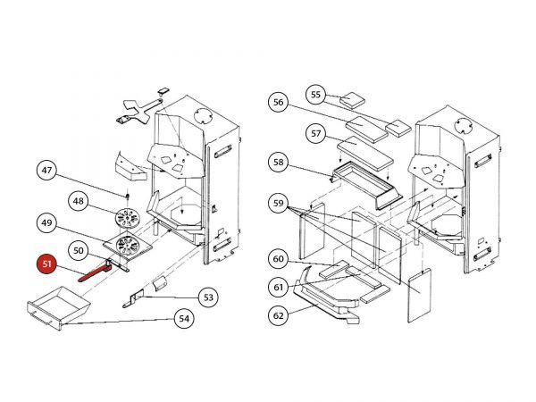 Rüttelrostbetätiger grau zu Rika Amato | Z30125 | Splitzeichnung Nr. 51