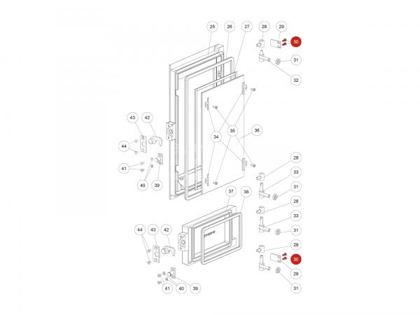 SK-Schraube M05x10 zu Rika Domo | N111950 | Splitzeichnung Nr. 30