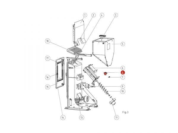Sicherheitstemperaturbegrenzer zu Rika Memo | N111586 | Splitzeichnung Nr. 8