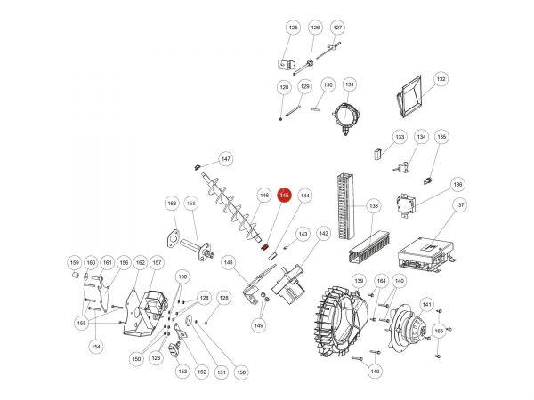 Gleitlager Di16 zu Rika Domo | Z35182 | Splitzeichnung Nr. 145