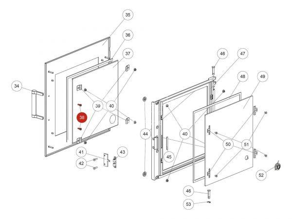 ISK-Schraube zu Rika Back | N112169 | Splitzeichnung Nr. 38