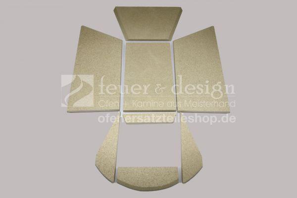 Skantherm Beo 5 KW Vermiculitesatz | Brennkammerauskleidung | 8 teilig