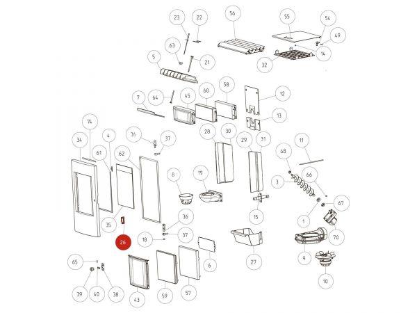 Rika Pico Verschlusslasche   L01882   Splitzeichnung Nr. 26