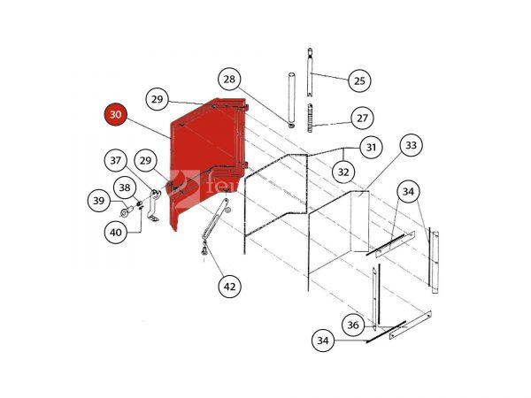 Feuerraumtür schwarz komplett zu Rika Amato | B14494 | Splitzeichnung Nr. 30