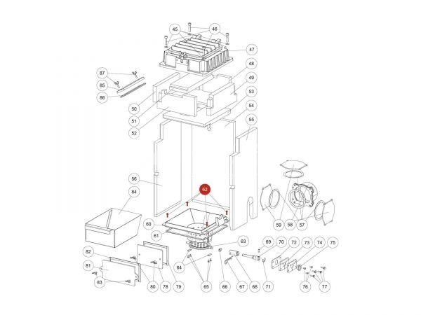 ISK-Schraube zu Rika Domo | N112058 | Splitzeichnung Nr. 62