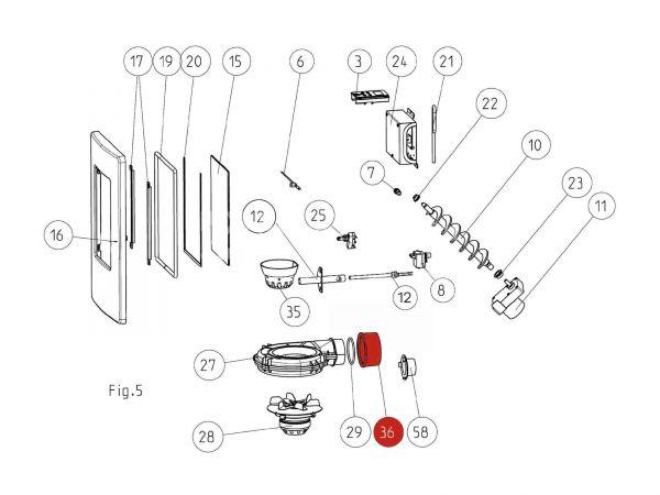 Rohradapter zu Rika Memo | N106283 | Splitzeichnung Nr. 36