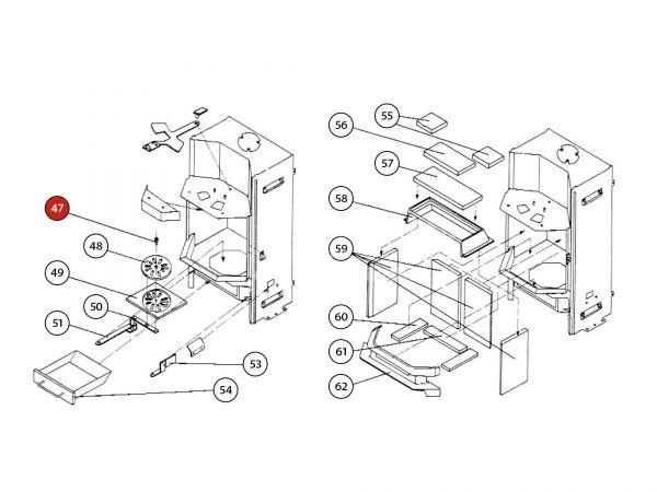 ISK-Schraube zu Rika Amato | N100061 | Splitzeichnung Nr. 47